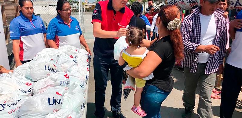 Ayuda solidaria llega al cantón Samborondón