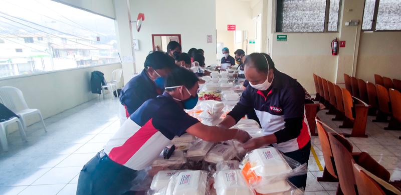 La unisocial extiende su mano de ayuda a los moradores de Quito y cercanía