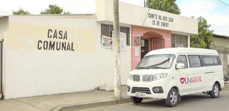 La obra social no para la Unisocial a través de sus donaciones ampara a familias del sector Guasmo